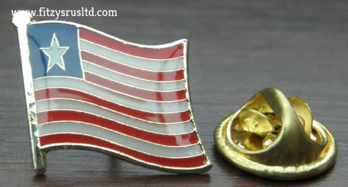 Liberia Country Flag Lapel Hat Cap Tie Pin Badge Liberian Republic New